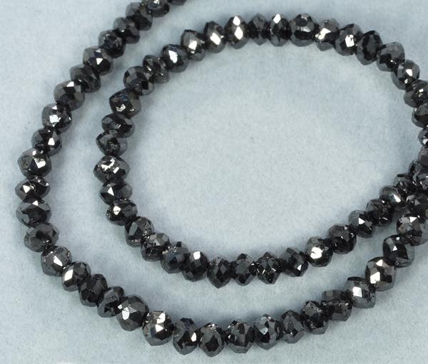 ブラックダイヤ 100ct ネックレス K18WG