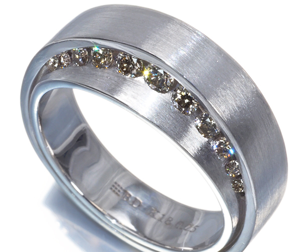 カシケイ リング ブラウンダイヤモンド 0.25ct マイン 13号 K18WG