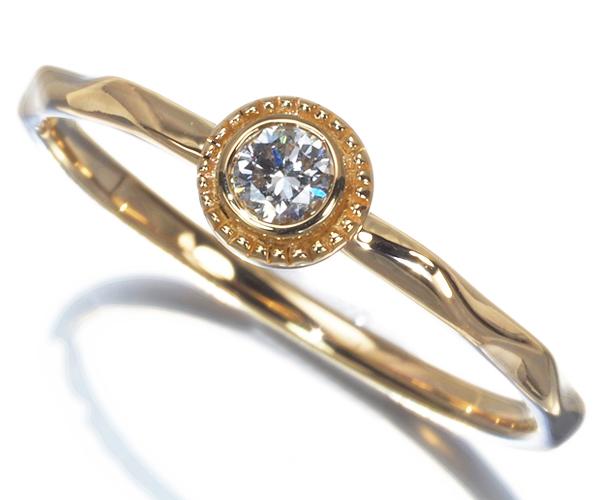 ヴァンドーム リング ダイヤモンド ミルグレイン 9号 K18YG