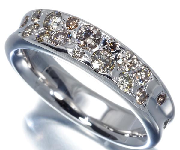 カシケイ リング ダイヤモンド 0.60ct メランジェ 12号 K18WG