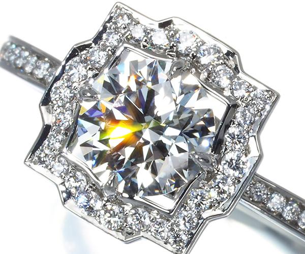ハリーウィンストン リング ダイヤモンド 0.70ct D VVS2 3EX ベルバイハリー 7.5号