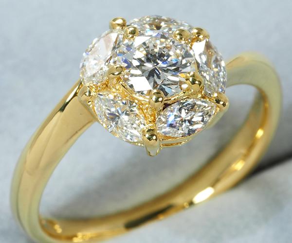 モニッケンダム リング ダイヤモンド 0.41ct/0.54ct K18YG
