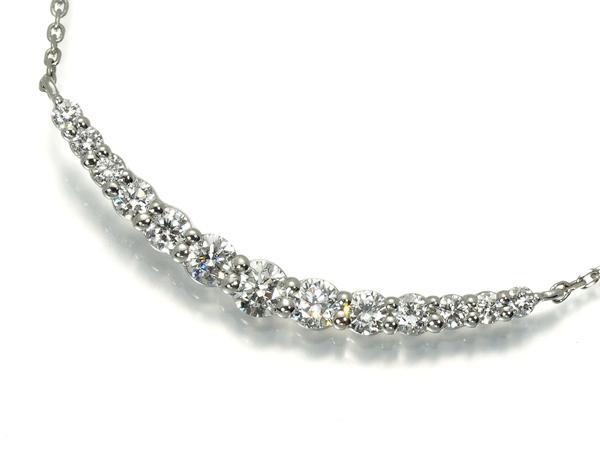 4℃ ヨンドシー ネックレス ダイヤ ダイヤモンド Pt850/プラチナ
