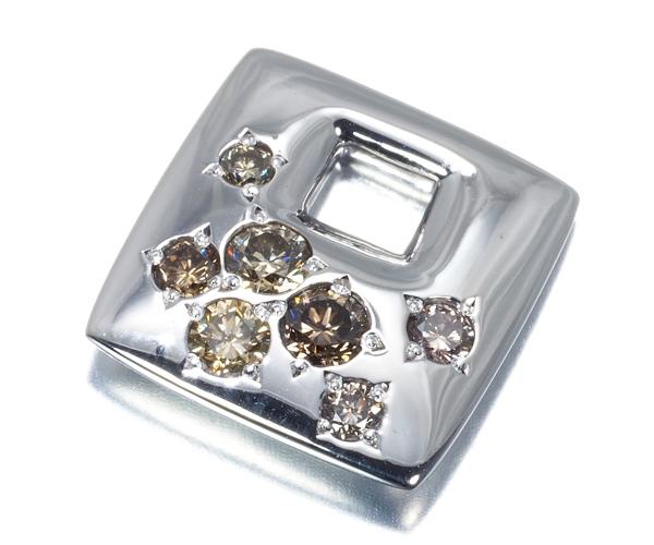 カシケイ ペンダントトップ ダイヤモンド 0.40ct メランジェ K18WG