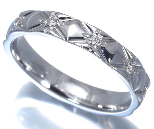 シャネル リング ダイヤモンド マトラッセ フル 50号 K18WG