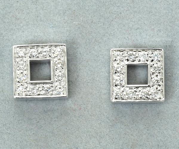 ヴァンドーム ピアス ダイヤモンド K18WG