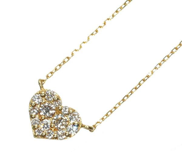 ポンテヴェキオ ネックレス ダイヤモンド 0.13ct ハート K18YG