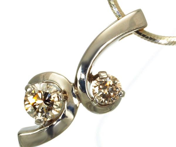 カシケイ ネックレス ダイヤモンド 0.30ct フロート K18BG