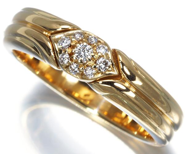 ブルガリ ダイヤリング ダイヤモンド パヴェ 12号 K18YG