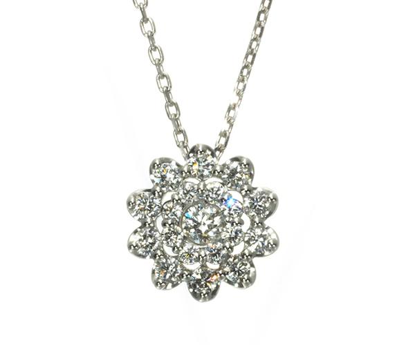 ポンテヴェキオ ネックレス ダイヤモンド 0.16ct Pt999/Pt850