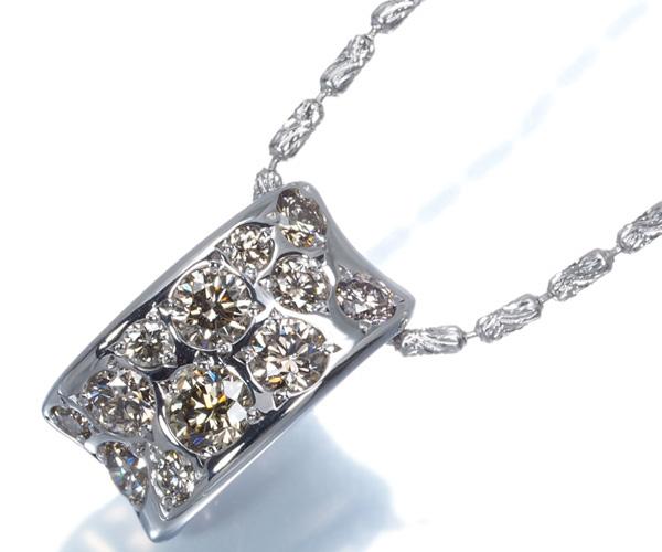 カシケイ ネックレス ダイヤモンド 0.45ct メランジェ K18WG