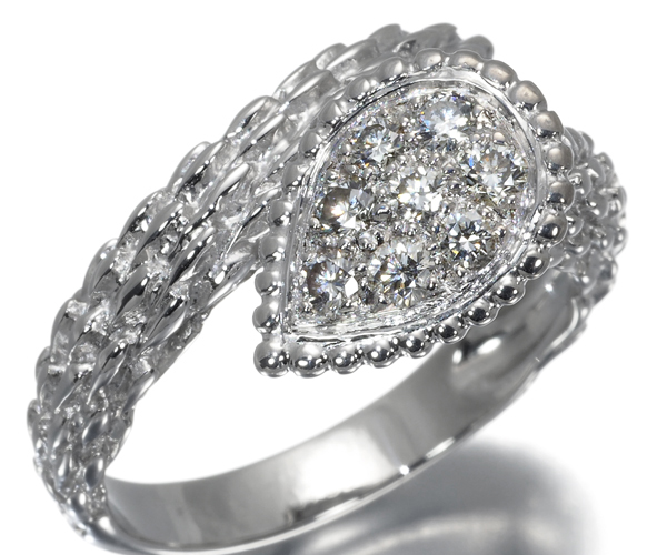 ブシュロン リング ダイヤモンド セルパンボエム 55号 K18WG