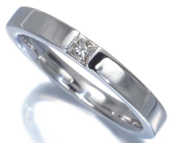 ハリーウィンストン リング プリンセスカットダイヤモンド マリッジ 13号 K18WG