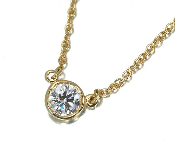 ティファニー ネックレス ダイヤモンド 0.2ct程 バイザヤード K18YG