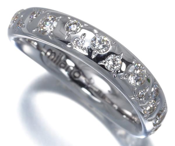 ポメラート リング ダイヤモンド フルエタニティ 12号 K18WG