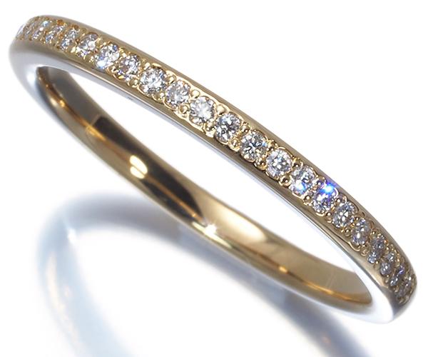 ヴァンドーム リング ダイヤモンド 0.12ct ハーフエタニティ 8号 K18YG