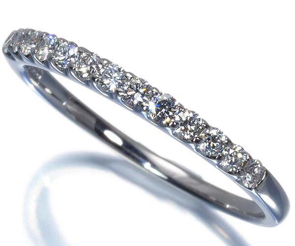 ヴァンドーム リング ダイヤモンド 0.23ct ハーフエタニティ 11号 Pt900