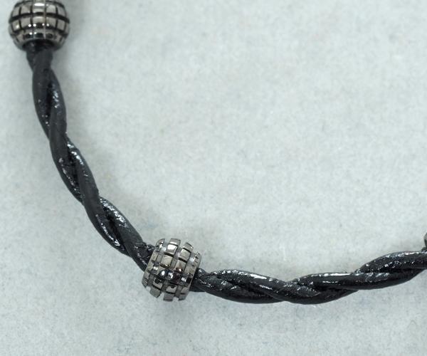 ダミアーニ ブレスレット ダイヤモンド メトロポリタンドリーム K18WG/レザー