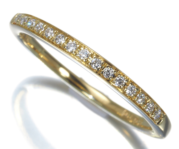 ポンテヴェキオ リング ダイヤモンド 0.09ct 13号 K18YG