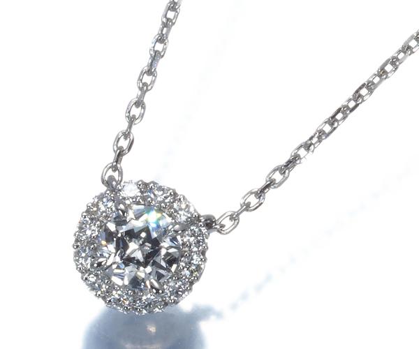 スタージュエリー ネックレス スターカット ダイヤモンド 0.22ct Pt950