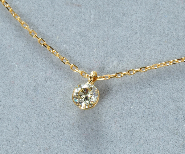 アガット ネックレス ダイヤモンド 0.20ct K18YG