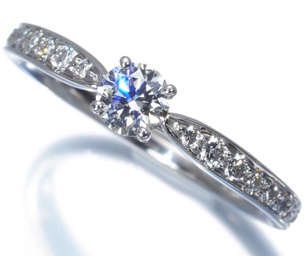 ティファニー リング ダイヤモンド 0.22ct F VVS1 3EX ハーモニー 10号 Pt950