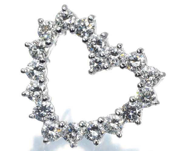 ポンテヴェキオ ペンダントトップ ダイヤモンド 1.29ct ハート K18WG