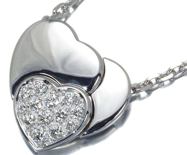 フレッド ネックレス ダイヤモンド ハート K18WG