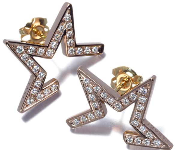 TASAKI タサキ ピアス ダイヤモンド 0.21ct/0.21ct アブストラクト スター K18PG/YG