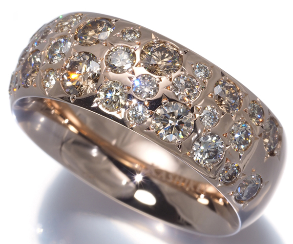 カシケイ リング ダイヤモンド 1.65ct カシケイバンド 12号 K18PG