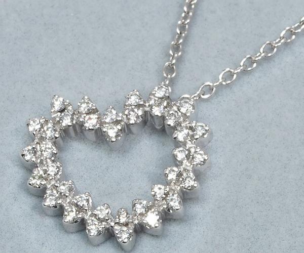 ポンテヴェキオ ネックレス ダイヤモンド ハート K18WG