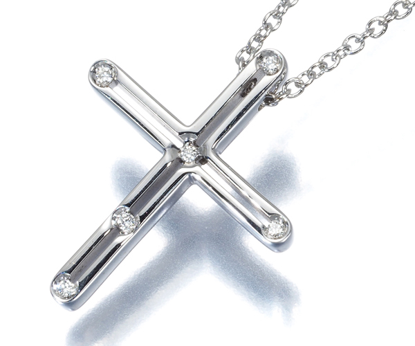 ダミアーニ ネックレス ダイヤモンド D-SIDE クロス K18WG