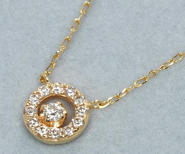 ポンテヴェキオ ネックレス ダイヤモンド 0.08ct K10YG