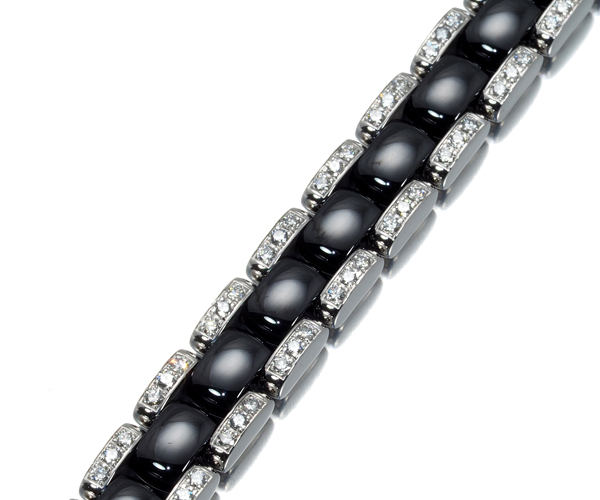 シャネル ブレスレット ダイヤモンド ウルトラ J12 ブラック K18WG/セラミック