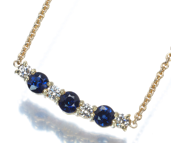 ティファニー ネックレス サファイア ダイヤモンド K18YG