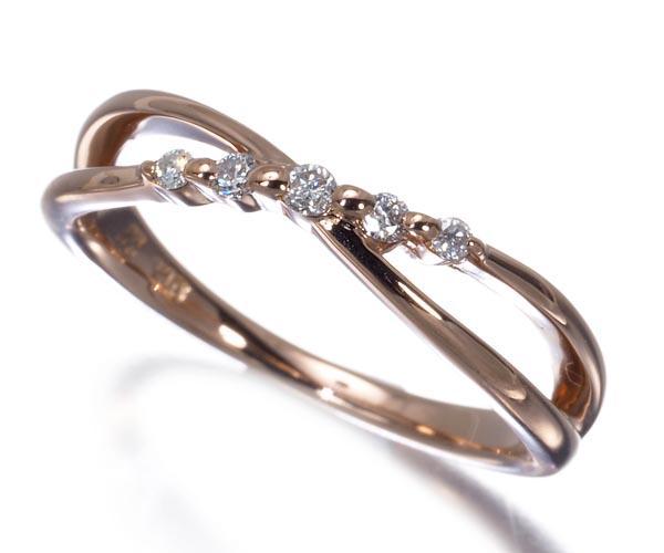 4℃ ヨンドシー ピンキーリング ダイヤモンド 3号 K10PG