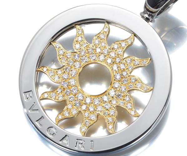 ブルガリ ペンダントトップ ダイヤモンド トンドサン K18YG/SS