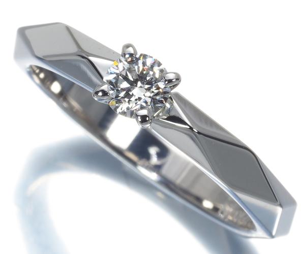 ブシュロン リング ダイヤモンド 0.21ct E VVS1 3EX ファセット 51号 Pt950