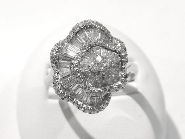 18金 ホワイトゴールド ダイヤモンドリング