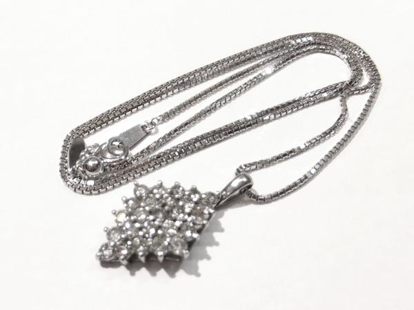 総計1.00ct  ダイヤモンド K18/Pt900 ネックレス