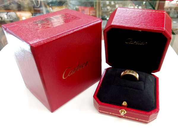 Cartier 18金 YG ラブリング