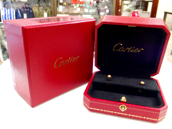 Cartier 18金 YG ダイヤモンド ピアス ディアマンレジェ