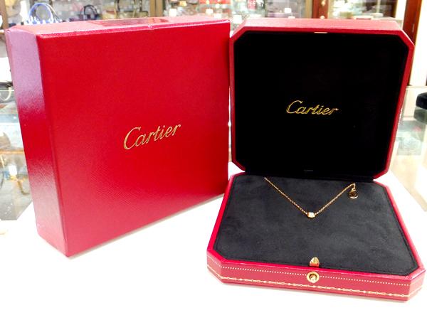 Cartier 18金 YG ダイヤモンド ネックレス ディアマン