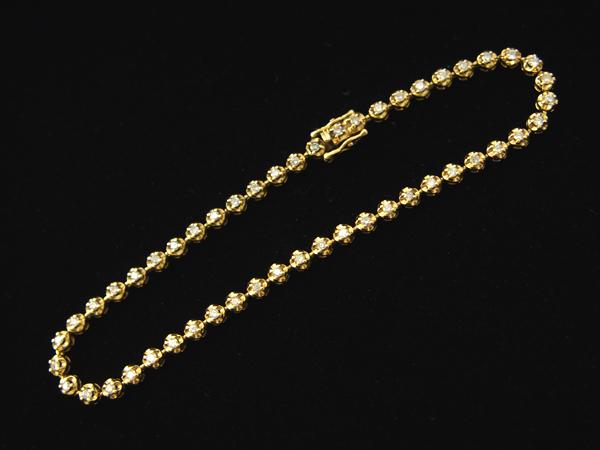 ダイヤモンド 1.00ct ブレスレットK18YG