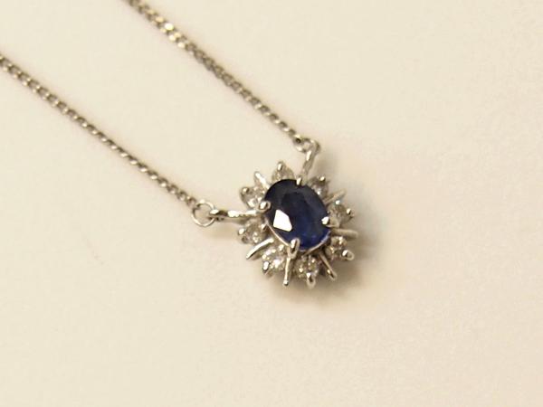 JEWELRY TSUTSUMI ツツミ サファイア ダイヤモンド ネックレス Pt850