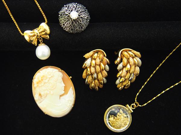 ジュエリー ダイヤモンド 真珠 カメオ