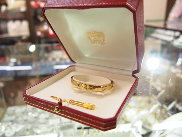 Cartier ダイヤモンド ラブブレスレット K18YG