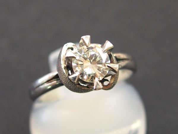 ダイヤモンド 0.52ct Pt850 リング
