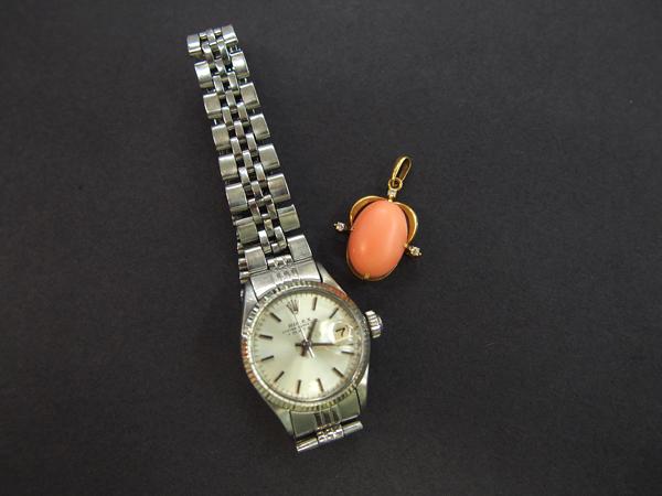 ロレックス 時計 ペンダントヘッド 石付き