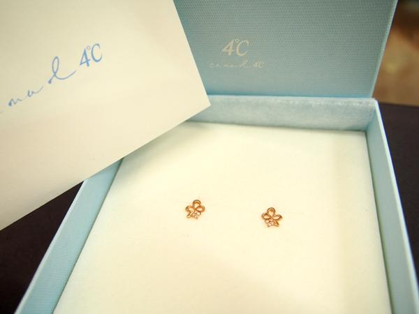 4℃ K10 PG ダイヤモンド ピアス